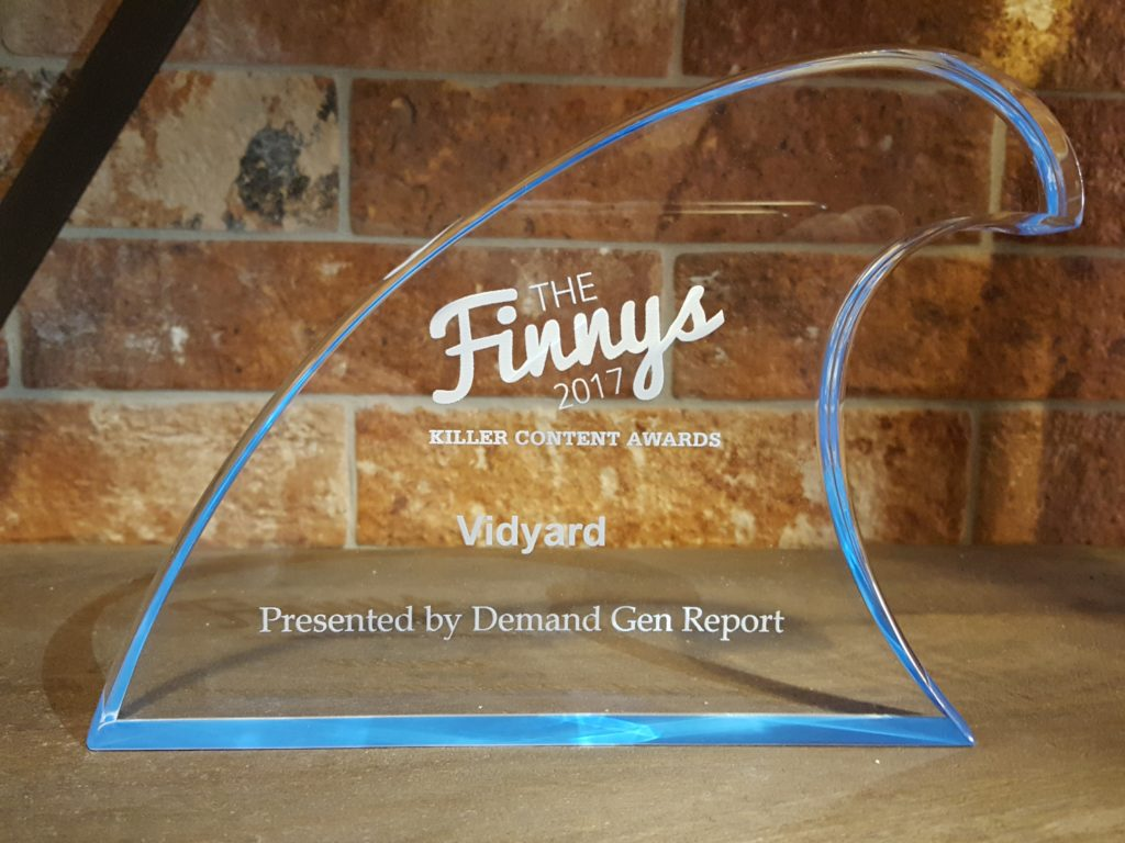 2017 Finny Content Marketing Award