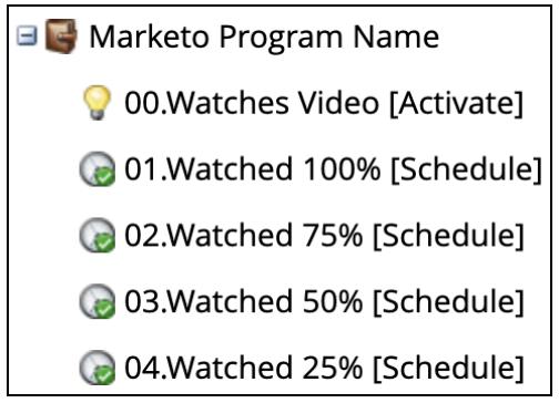 Example of Marketo Program Structure: