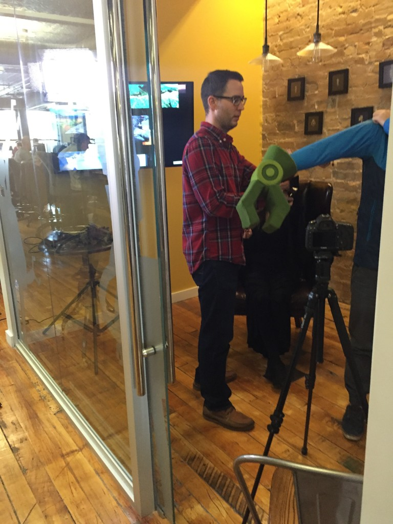 Making of Vidyard Halloween Video - Vbot Claw