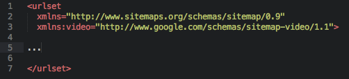 Video Sitemap Container