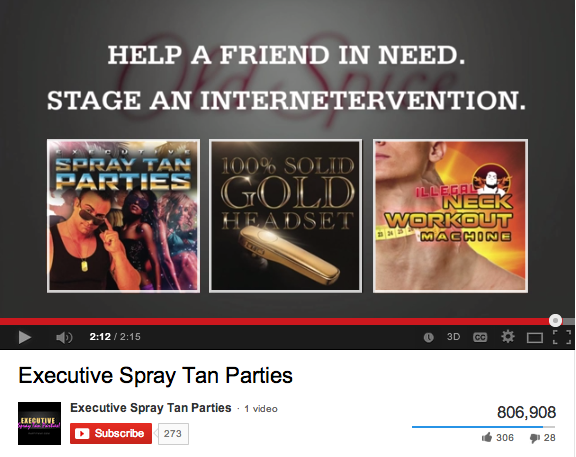 Old Spice is creating parody YouTube channels for each pre-roll product