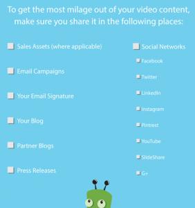 Helpful checklist to keep