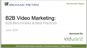 B2B Video Marketing Benchmark Report