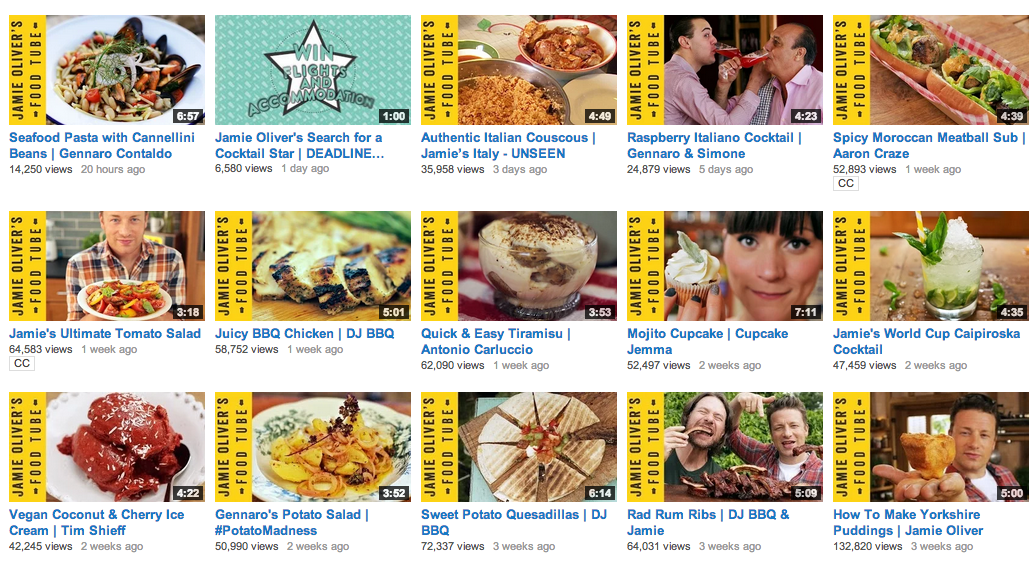Jamie Oliver's Food Tube Channel gets splashscreen images right