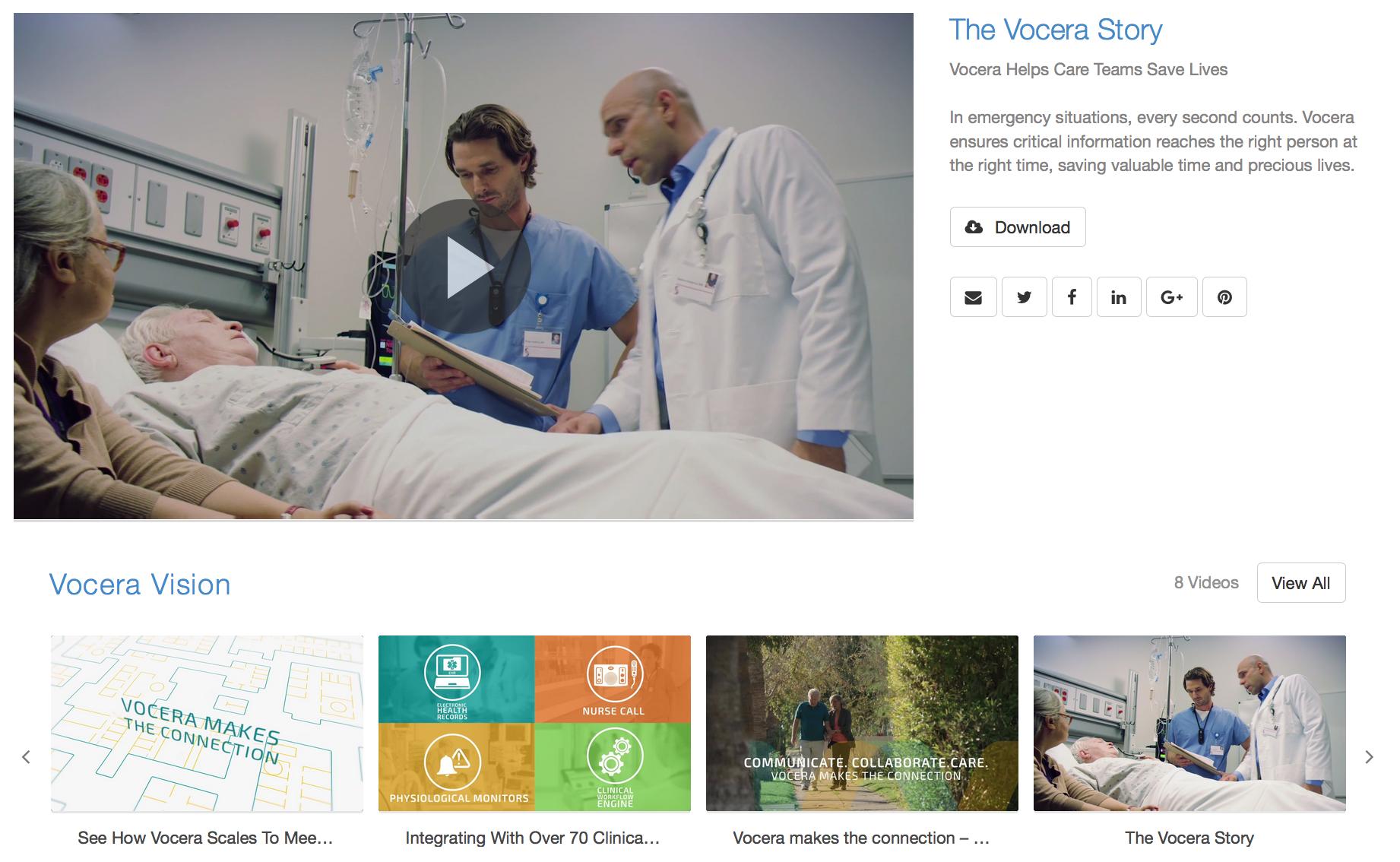 Vocera Video Hub