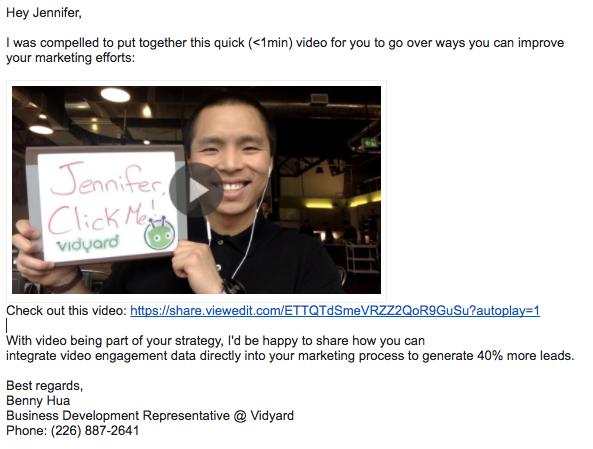 Benny Hua - Email Thumbnail Screenshot