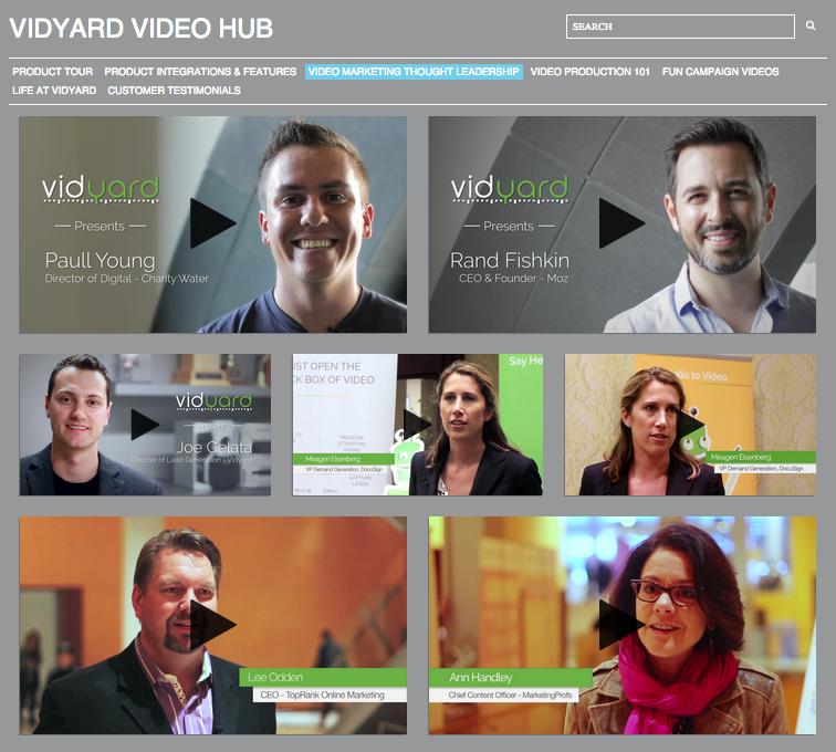 Vidyard video series
