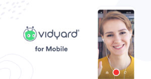 Record and share a video by email or text message within Vidyard's new Android app.