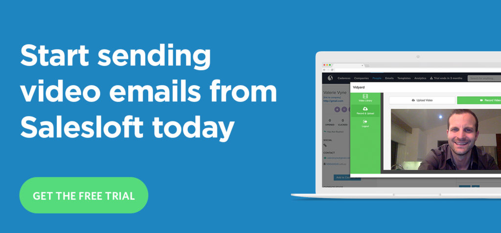 Vidyard for Salesloft - get the free trial