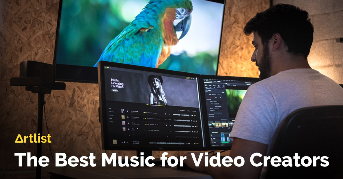 Artlist offers background music for video