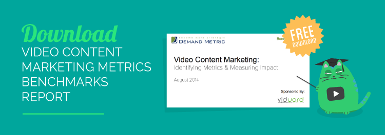 Download the Demand Metric report on video marketing metrics and ROI