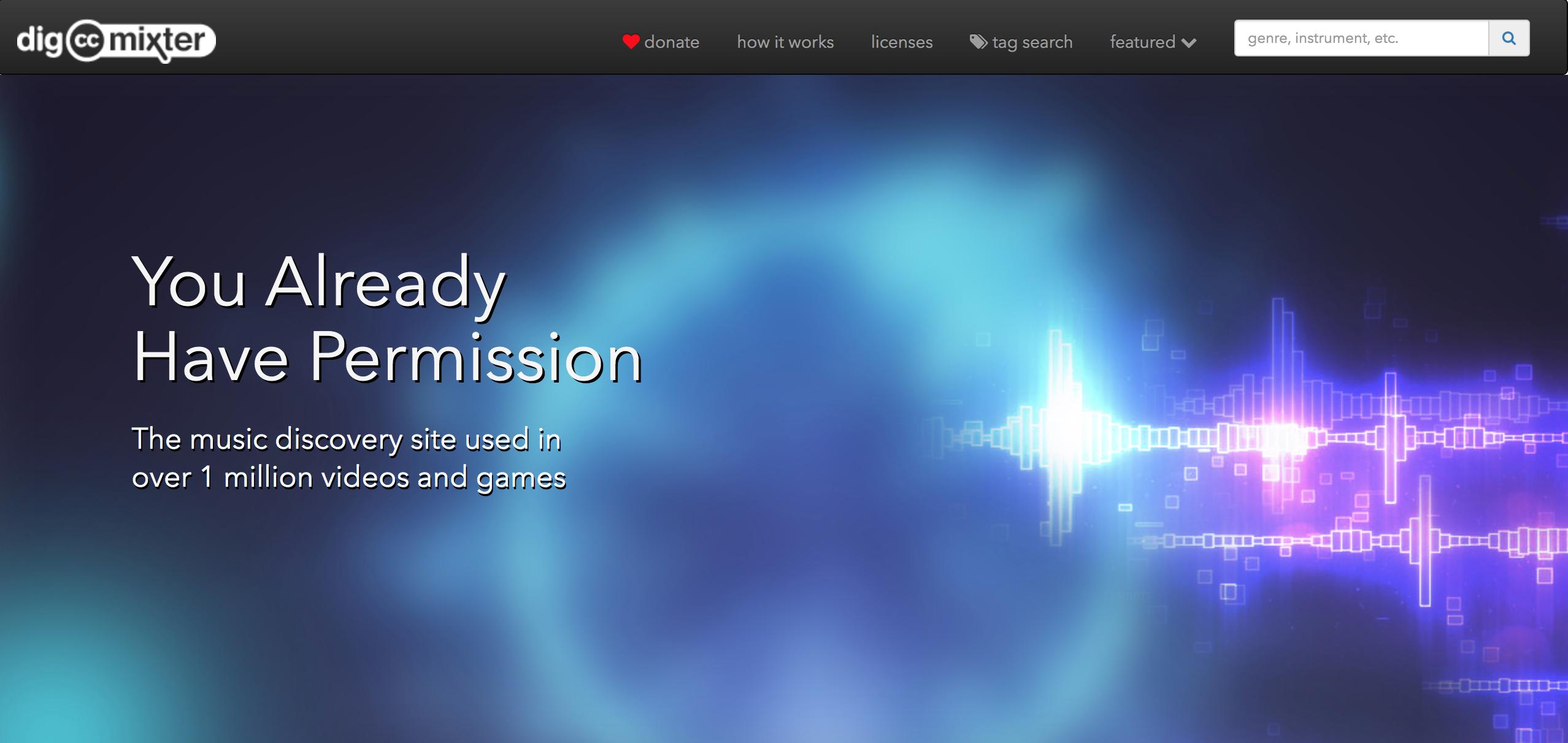 screenshot of CC Mixter