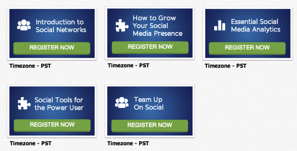 HootSuite Webinar series is well done