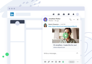 Screenshot view of a direct video message in LinkedIn using Vidyard.