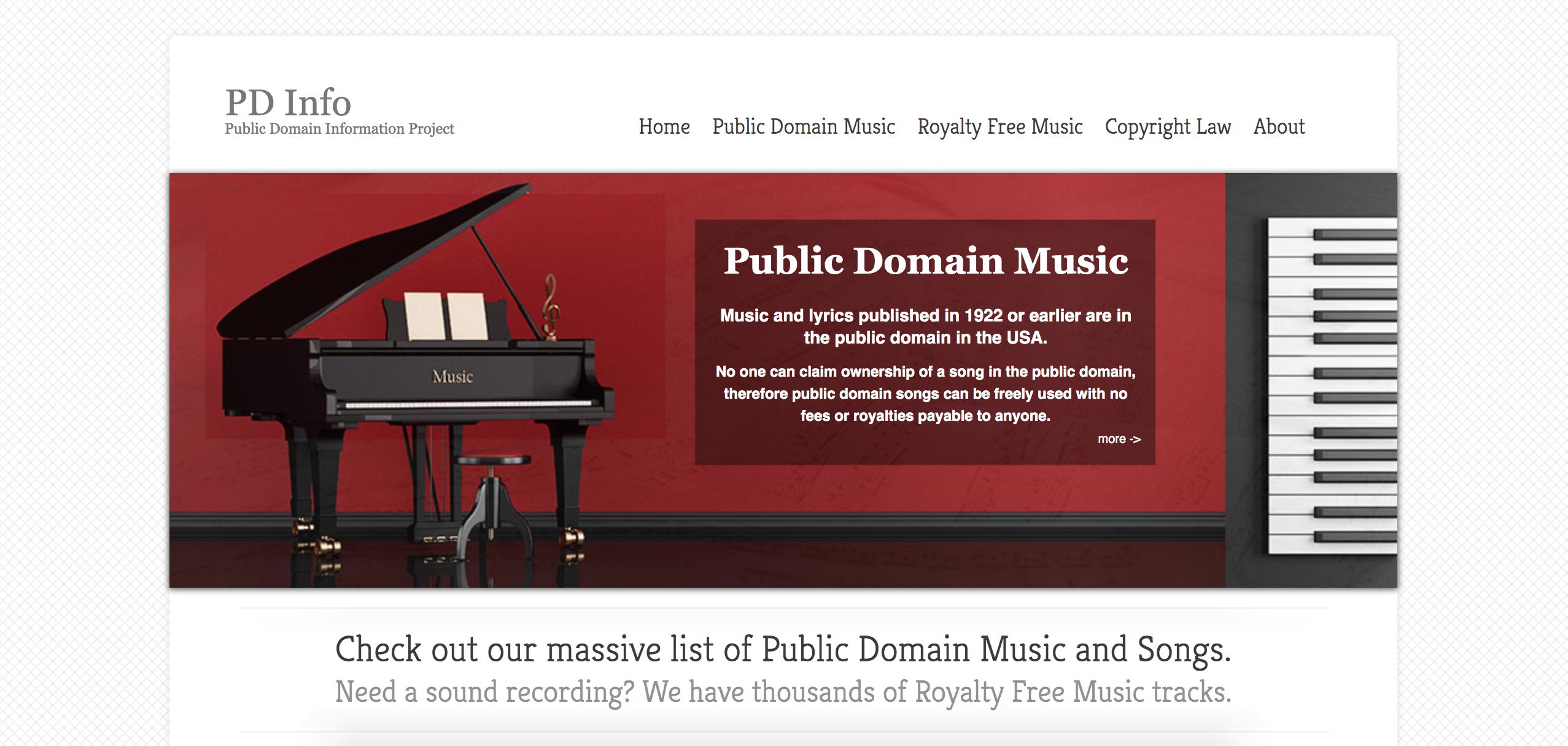 screenshot of PD Info