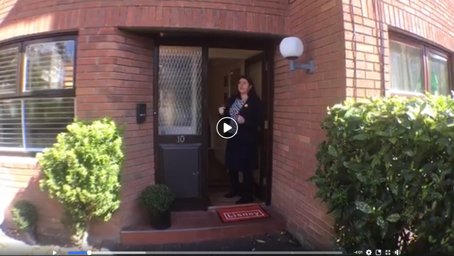 a broker from Lisney creates a live real estate video
