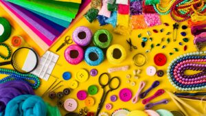 Craft supplies to signify sales prospecting templates.