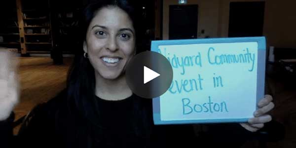 Thumbnail example of a sales prospecting video for an event.