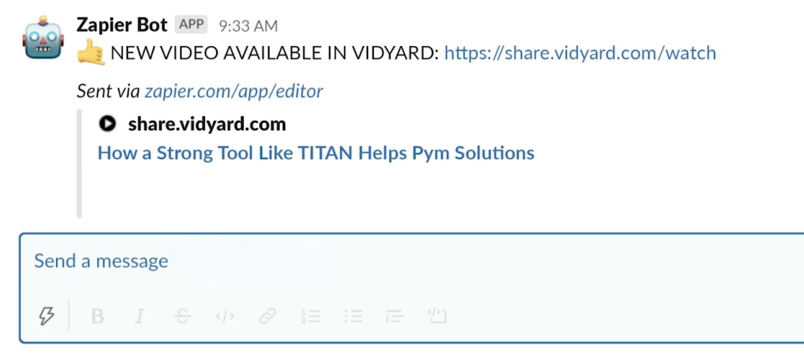 Zapier-Integration: Informieren von Slack-Kanälen, wenn neue Videos veröffentlicht werden, um den Video-Workflow zu verfeinern