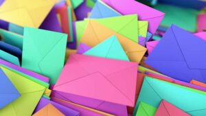 A pile of envelopes