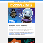 A video email from Funko promoting a new product