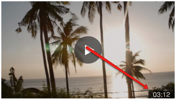 Vidyard hacks screenshot showing the timecode in a video thumbnail.