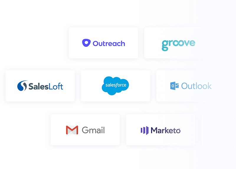 group of company logos that are integrated with Vidyard