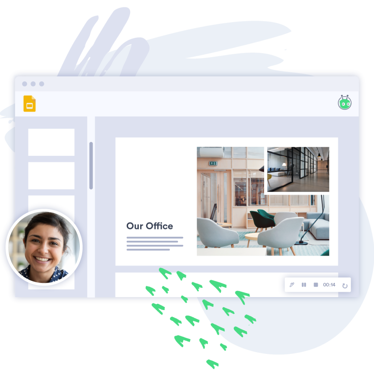 Easily record screen share and webcam videos with Vidyard.