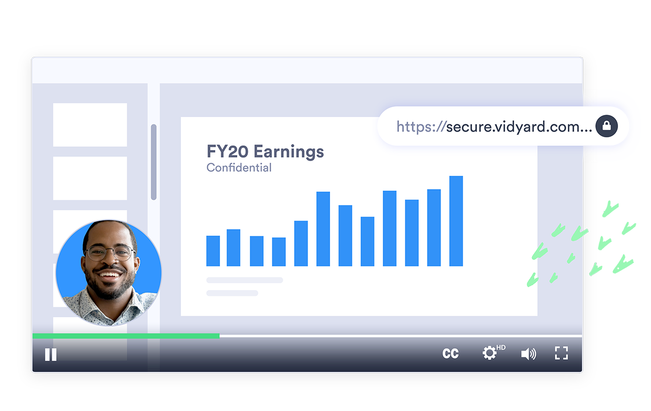 Vidyard's secure video sharing protects corporate communications like presentations and updates