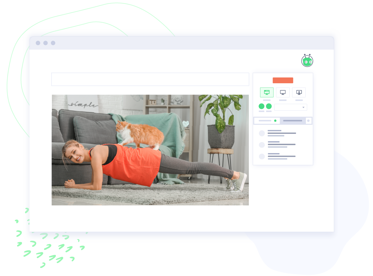 Fitness instructor uses Vidyard to record and share exercise video.
